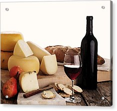 Wine And Cheese Acrylic Print by Cole Black