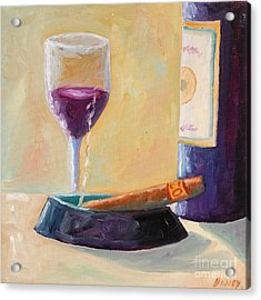 Wine And Cigar Acrylic Print by Todd Bandy
