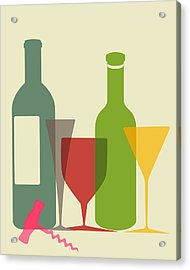 Wine And Dine Acrylic Print by Ramneek Narang