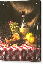 Wine And Fruit Acrylic Print