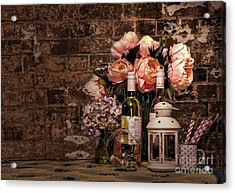 Wine And Roses Acrylic Print by Kaye Menner