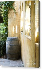 Wine Barrel At The Vineyard Acrylic Print