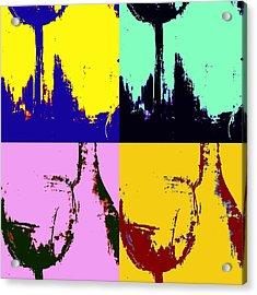 Wine Bottle And Glass Acrylic Print