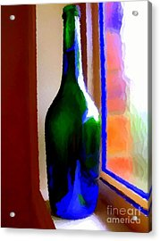 Wine Bottle Acrylic Print by Chris Butler
