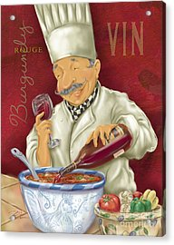 Wine Chef II Acrylic Print by Shari Warren