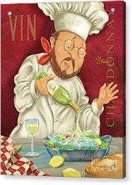 Wine Chef IIi Acrylic Print by Shari Warren
