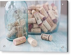 Wine Cork Collection Acrylic Print by Kay Pickens