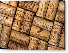 Wine Corks Acrylic Print by Gregory G. Dimijian, M.D.