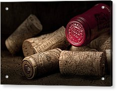 Wine Corks Still Life Iv Acrylic Print by Tom Mc Nemar