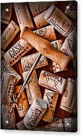 Wine Corks With Corkscrew Acrylic Print by Paul Ward