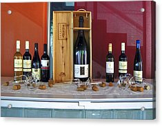 Wine Display Acrylic Print by Sally Weigand