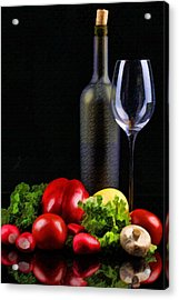 Wine For A Salad Acrylic Print by Elaine Plesser