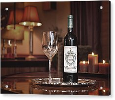 Wine For One Acrylic Print by Dennis James