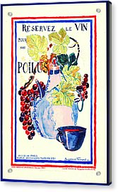 Wine For Soldiers 1916 Acrylic Print by Padre Art
