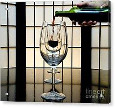 Wine For Three Acrylic Print by John Debar