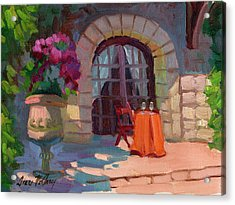 Wine For Two Acrylic Print by Diane McClary
