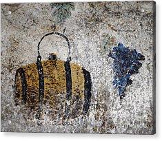 Wine Fresco Acrylic Print by Bernard Jaubert