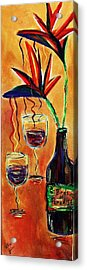 Wine From Birds Of Paradise  Acrylic Print by Victoria  Johns