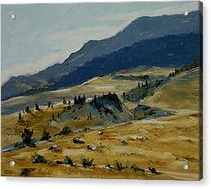Wine Glass Valley Montana Acrylic Print