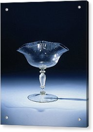 Wine Glass With A Pleated In Double Accolade Chalice Acrylic Print by Quint Lox