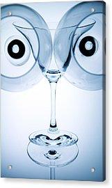 Wine Glasses 9 Acrylic Print by Rebecca Cozart