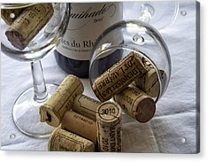 Wine Glasses And Corks  Acrylic Print