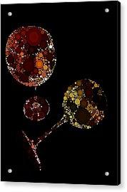 Wine Glasses  Acrylic Print by Cindy Edwards