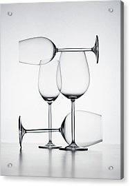 Wine Glasses Acrylic Print by Jorg Greuel