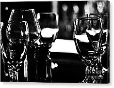 Wine Glasses On Table Acrylic Print