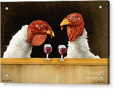Wine Goblets... Acrylic Print by Will Bullas