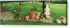 Wine Grapes And Foods Of Chianti Region Acrylic Print by Panoramic Images