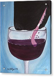 Wine Is Best Shared With Friends - Black Dog Acrylic Print