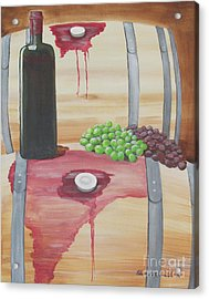 Wine N Grapes Acrylic Print