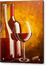 Acrylic Print featuring the painting Wine Not by Darren Robinson