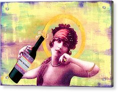 Acrylic Print featuring the painting Wine Of Love by Desiree Paquette