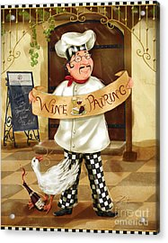 Wine Pairing Chef Acrylic Print