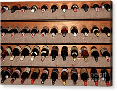Wine Rack In The Private Dining Room At The Swiss Hotel In Sonoma California 5d24462 Acrylic Print by Wingsdomain Art and Photography