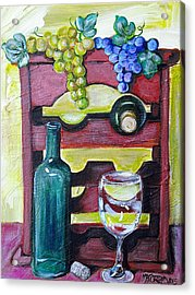 Wine Rack  Acrylic Print by Melissa Torres