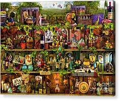 Wine Shelf Acrylic Print by Aimee Stewart