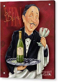 Wine Sommelier Acrylic Print by Shari Warren