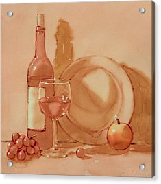 Wine Still Life Acrylic Print by Joe Schneider