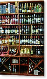 Acrylic Print featuring the photograph Wine Store Provence France by Dave Mills