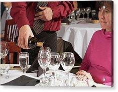 Wine Taster Acrylic Print by Jim West