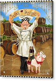 Wine Tasting Chef Acrylic Print
