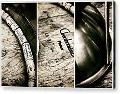 Wine Tasting Triptych Acrylic Print by Georgia Fowler