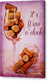 Wine Time Acrylic Print by Clare Bevan