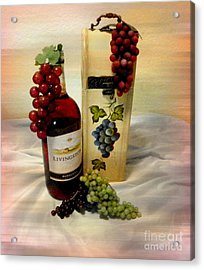 Wine To Be Enjoyed Acrylic Print by Carol Grenier