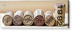 Wine Vintages Acrylic Print by Frank Tschakert
