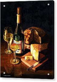 Wine With Cheese Acrylic Print by Douglas Castleman