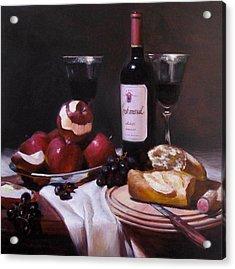 Wine With Peeled Apples Acrylic Print by Takayuki Harada